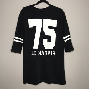 Zara 75 Le Marais sweatshirt dress size small